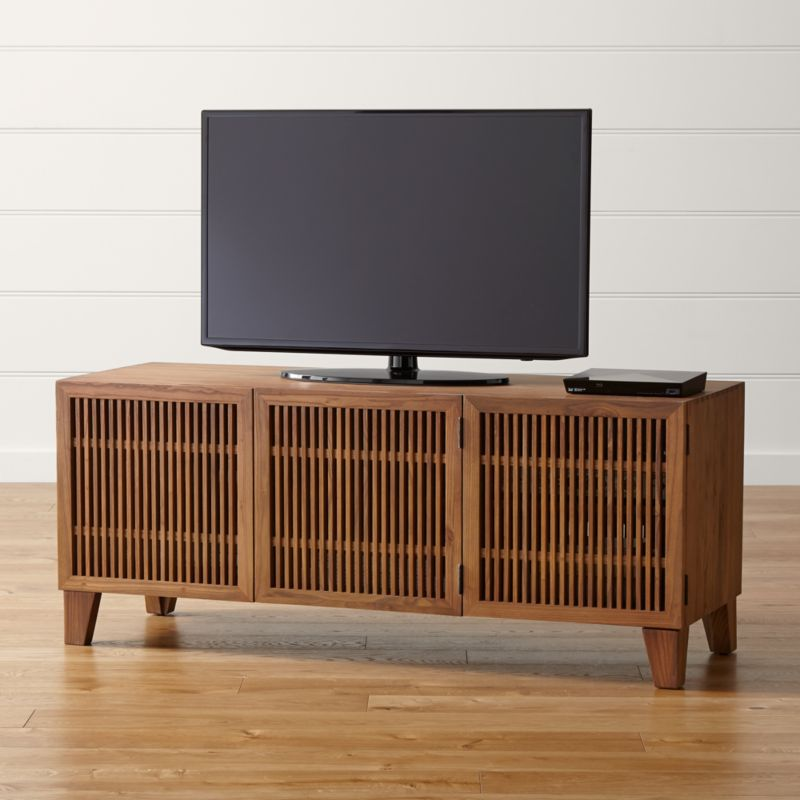 Marin Natural 58 Quot Media Console Crate And Barrel