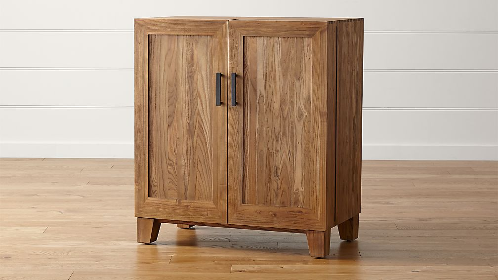 Marin natural bar cabinet crate and barrel for Cupboards and cabinets