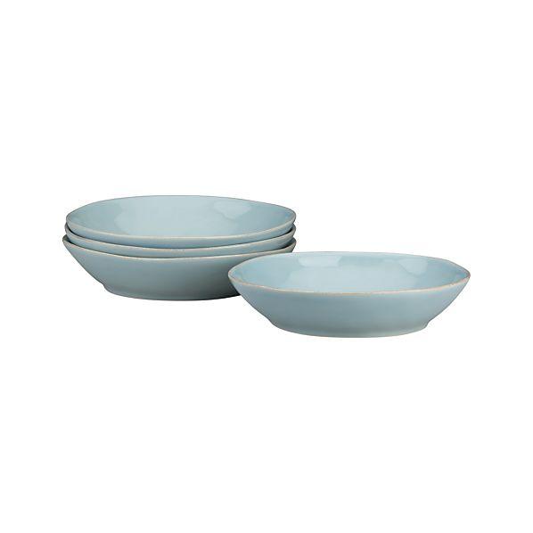 Set of 4 Marin Blue Pasta-Low Bowl