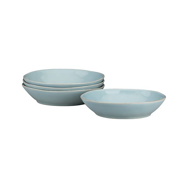Set of 4 Marin Blue Pasta-Low Bowl