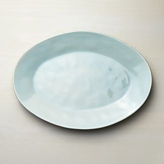 Marin Blue Large Oval Platter