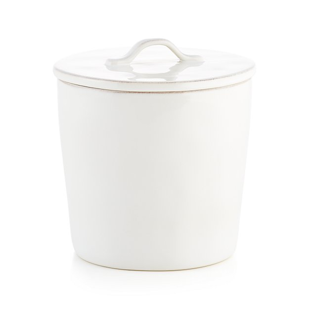 marin large white ceramic kitchen canister crate and barrel