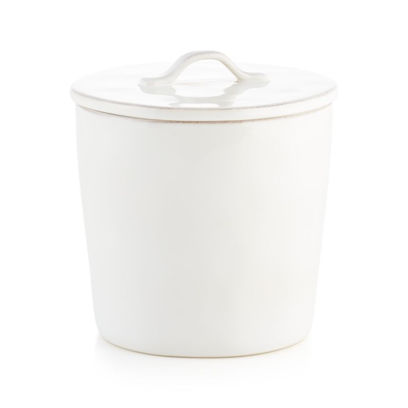 Marin Large White Ceramic Kitchen Canister