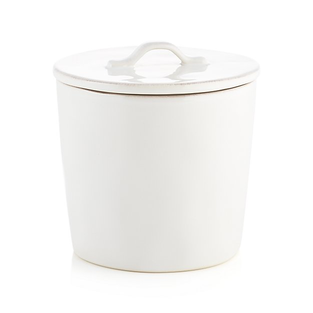 marin small white ceramic kitchen canister crate and barrel