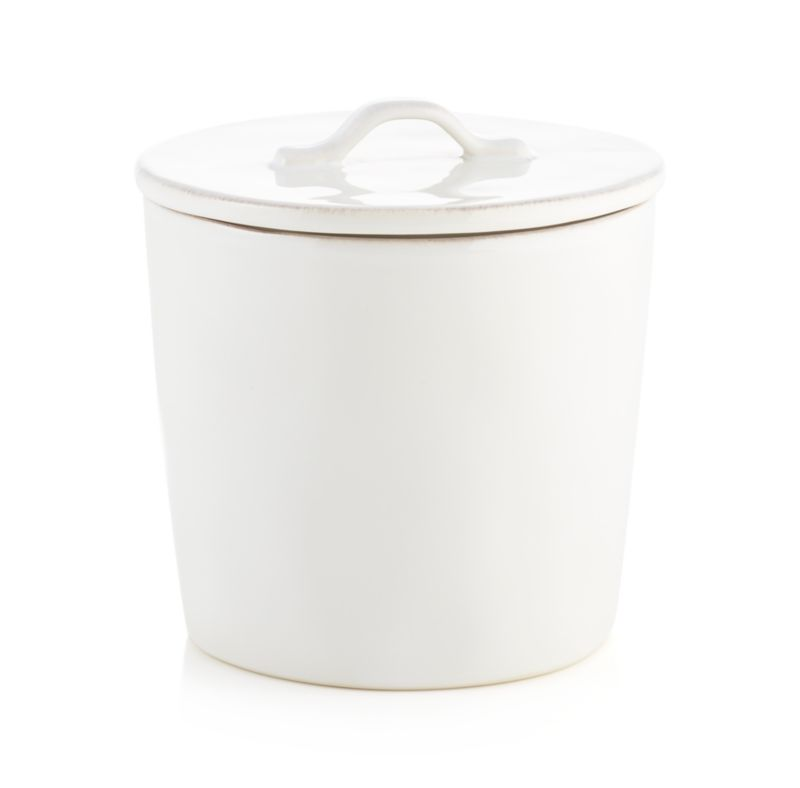 Marin Small White Ceramic Kitchen Canister