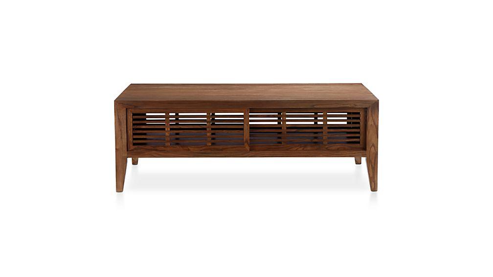 marin shiitake solid wood coffee table crate and barrel