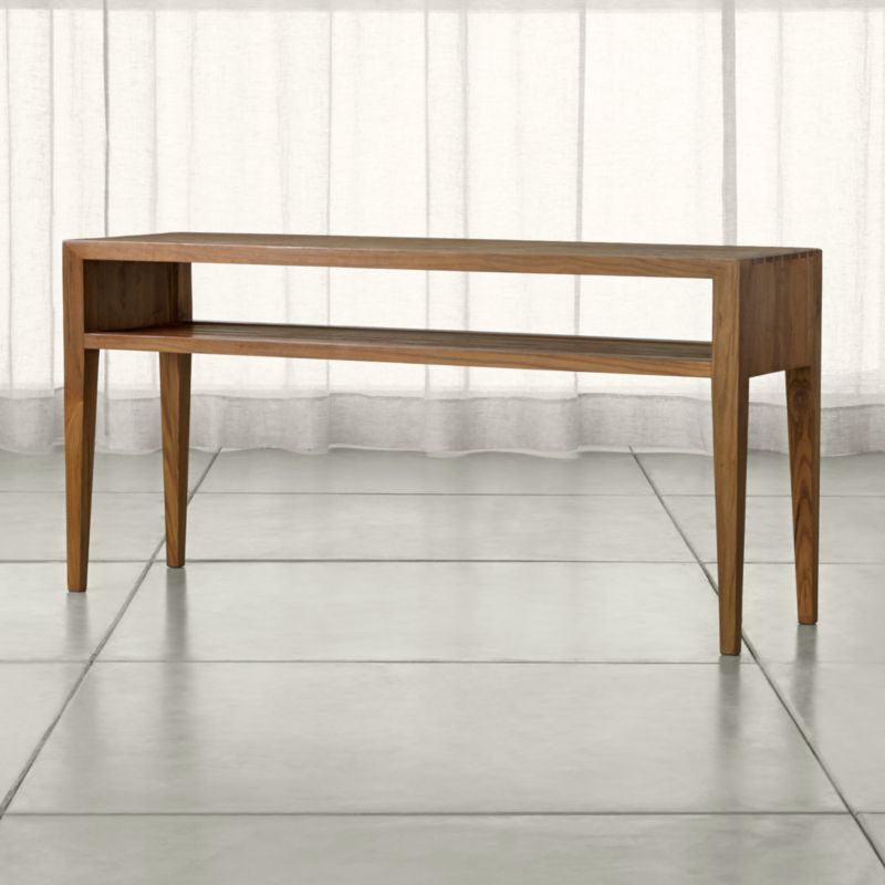 Marin Natural Solid Wood Console Table Crate And Barrel