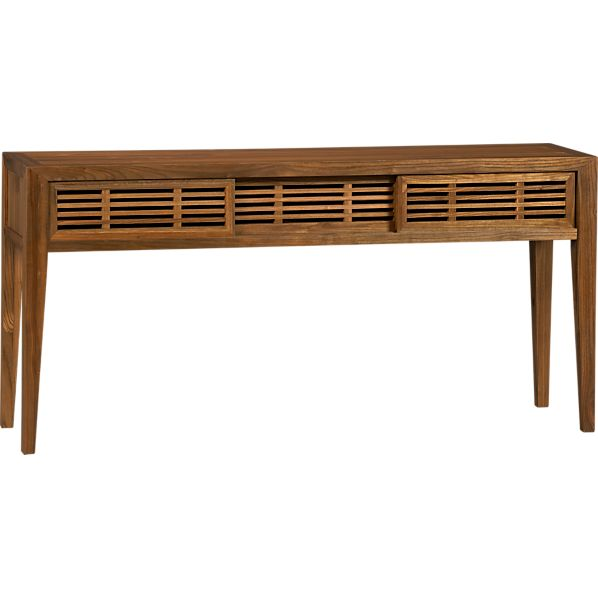 Marin Console Table with Sliding Doors