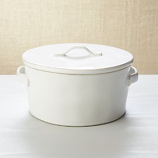 Marin White Covered Casserole 2Qt