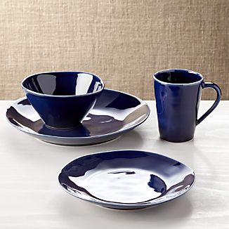 Marin Dark Blue 4-Piece Plate Setting
