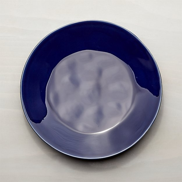 Marin Dark Blue Dinner Plate Crate And Barrel