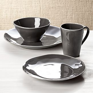 Marin Dark Grey 4-Piece Plate Setting