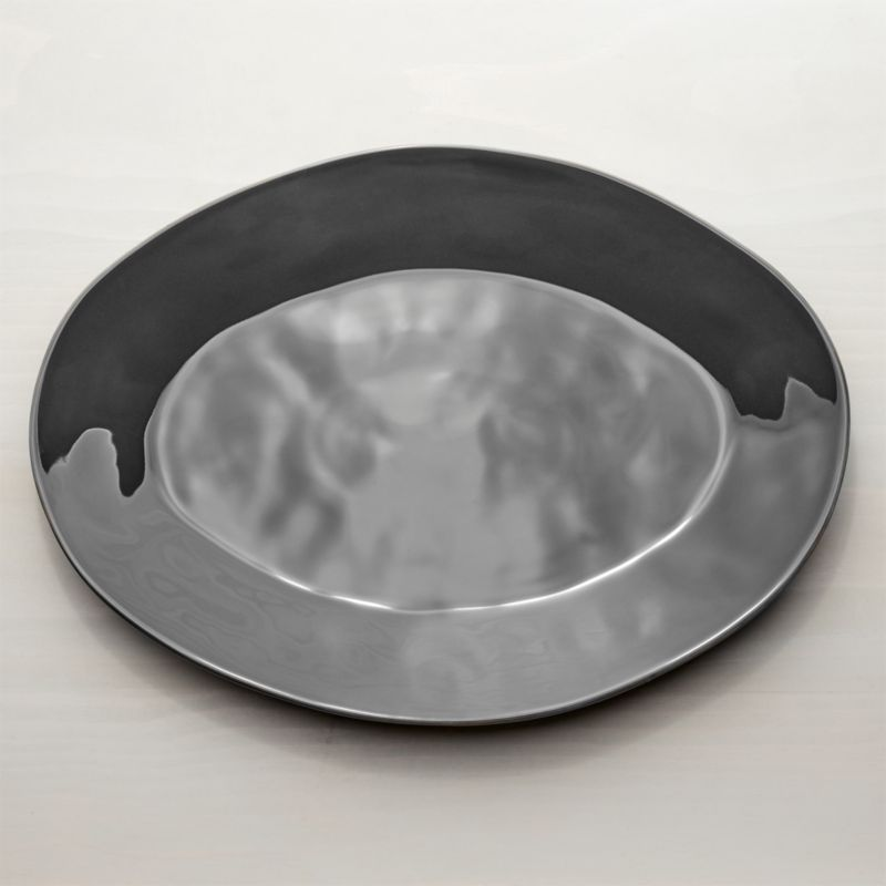 """Marin Dark Grey 20"""" Oval Platter"""