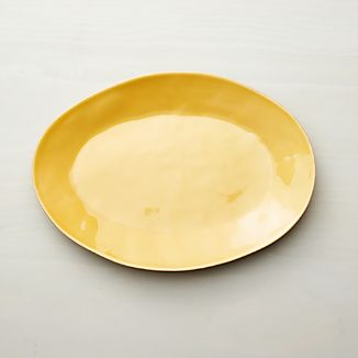 "Marin Gold 15.75"" Oval Serving Platter"