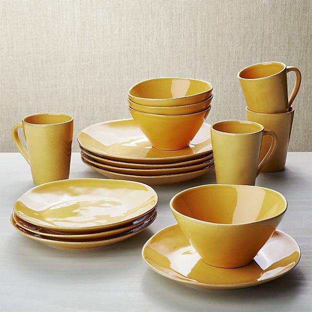 Marin Gold 16-Piece Dinnerware Set