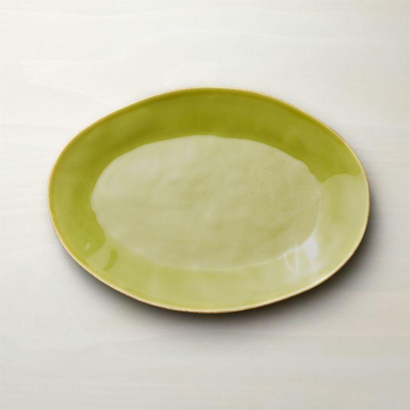 Marin Green Small Oval Platter
