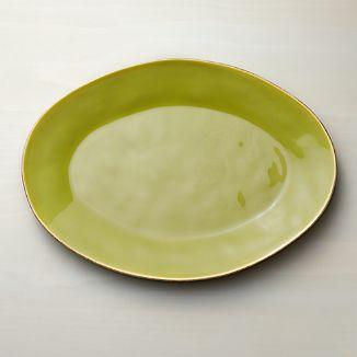 Marin Green Large Oval Platter