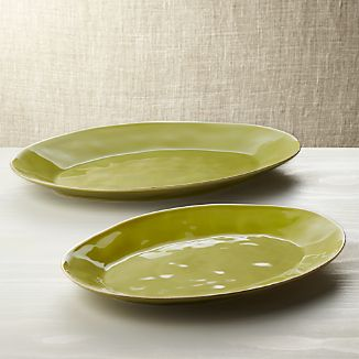 "Marin Green 15.75""-20"" Oval Platters"