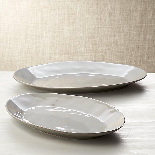 Marin Grey Oval Platters