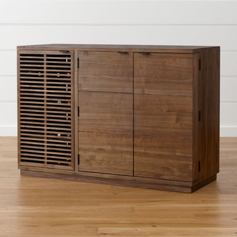 Marin Shiitake Large Bar Media Cabinet Crate And Barrel