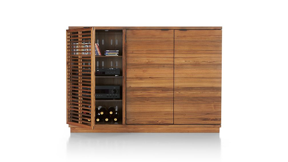 Marin Natural Large Bar/Media Cabinet
