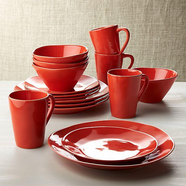 Marin Orange 16-Piece Dinnerware Set