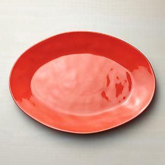Marin Orange Large Oval Platter