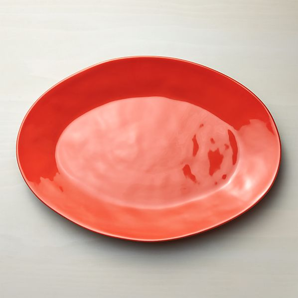 Marin Orange Large Oval Platter