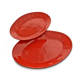 Marin Orange Oval Platters