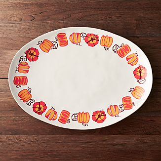 Marin Pumpkin Turkey Serving Platter