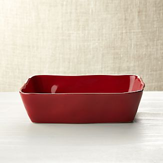 "Marin Red 10""x7"" Baking Dish"