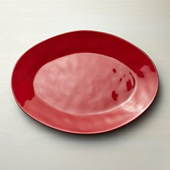 Marin Red Large Oval Platter