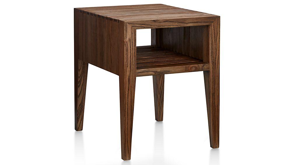 Marin Shiitake Solid Wood Side Table