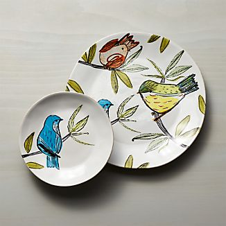 Marin Summer Birds Dinnerware