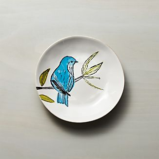 Marin Summer Birds Salad Plate