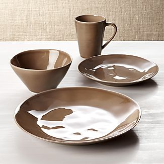 Marin Taupe 4-Piece Place Setting