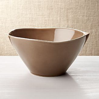 Marin Dark Taupe Serving Bowl