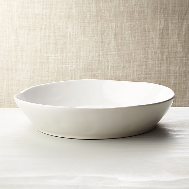 Marin white centerpiece bowl crate and barrel