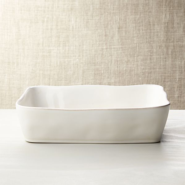 "Marin White Baking Dish 12""x8.5"""