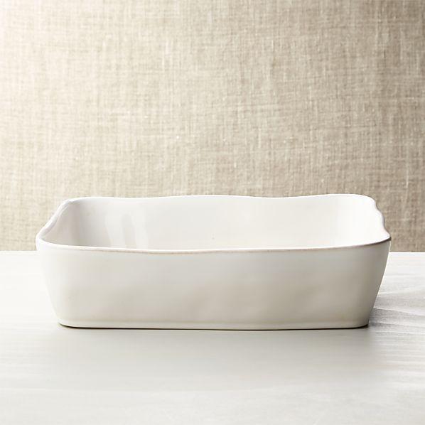 """Marin White 12""""x8.5"""" Baking Dish"""
