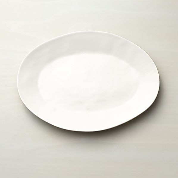 Marin White Small Oval Serving Platter