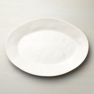 Marin White Large Oval Serving Platter