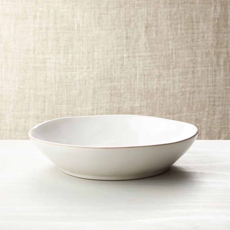 Marin White Pasta Low Bowl Crate And Barrel
