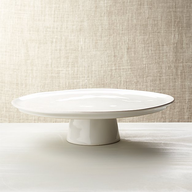 Marin White Large Cake Stand | Crate and Barrel