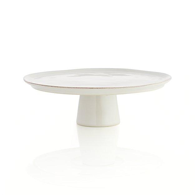 Marin White Small Cake Stand