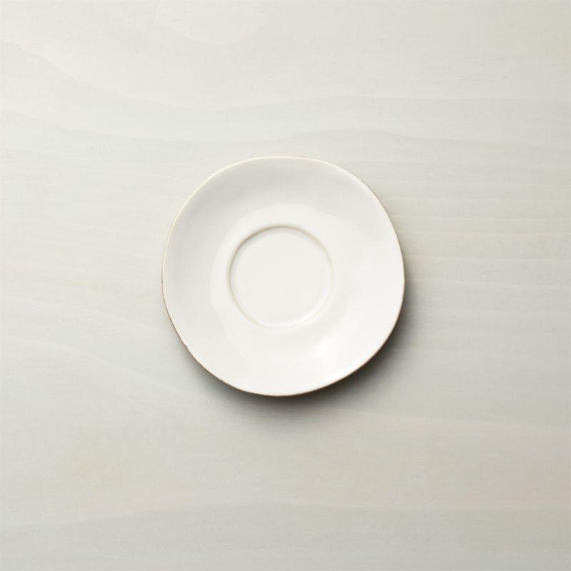 Artisanal ceramic shapes are glazed a soft white with subtle hand-antiquing on the freeform rims.<br /><br /><NEWTAG/><ul><li>Stoneware</li><li>Dishwasher-, microwave- and oven-safe to 300 degrees</li><li>Made in Portugal</li></ul>