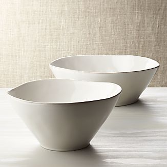 Marin White Serving Bowls