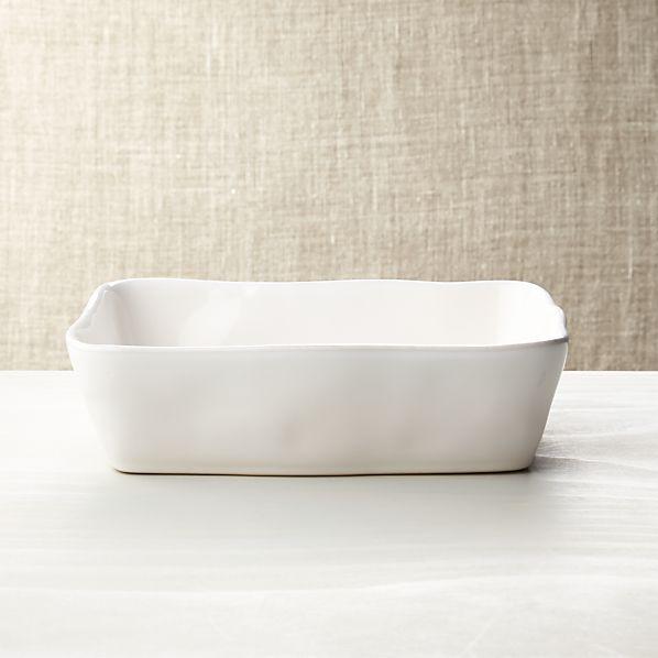 """Marin White Baking Dish 10""""x7"""""""