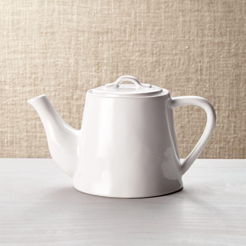 Marin White Teapot
