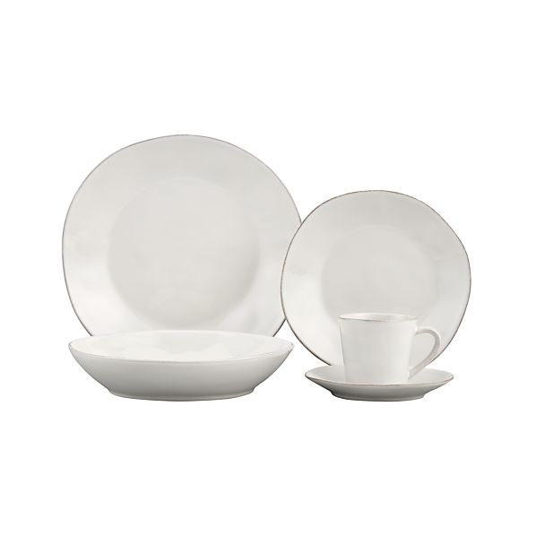 Marin White 5-Piece Place Setting